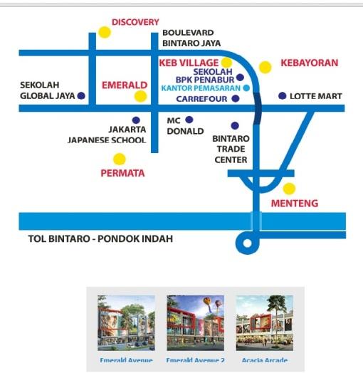 Peta Lokasi Komersial Bintaro Jaya