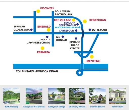 Peta Lokasi Perumahan Bintaro Jaya